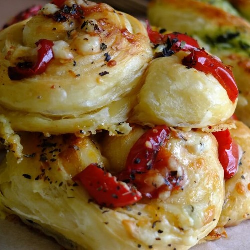 roasted pepper & cheese danish pastry