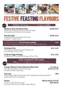 Festive Feasting Price List 2017